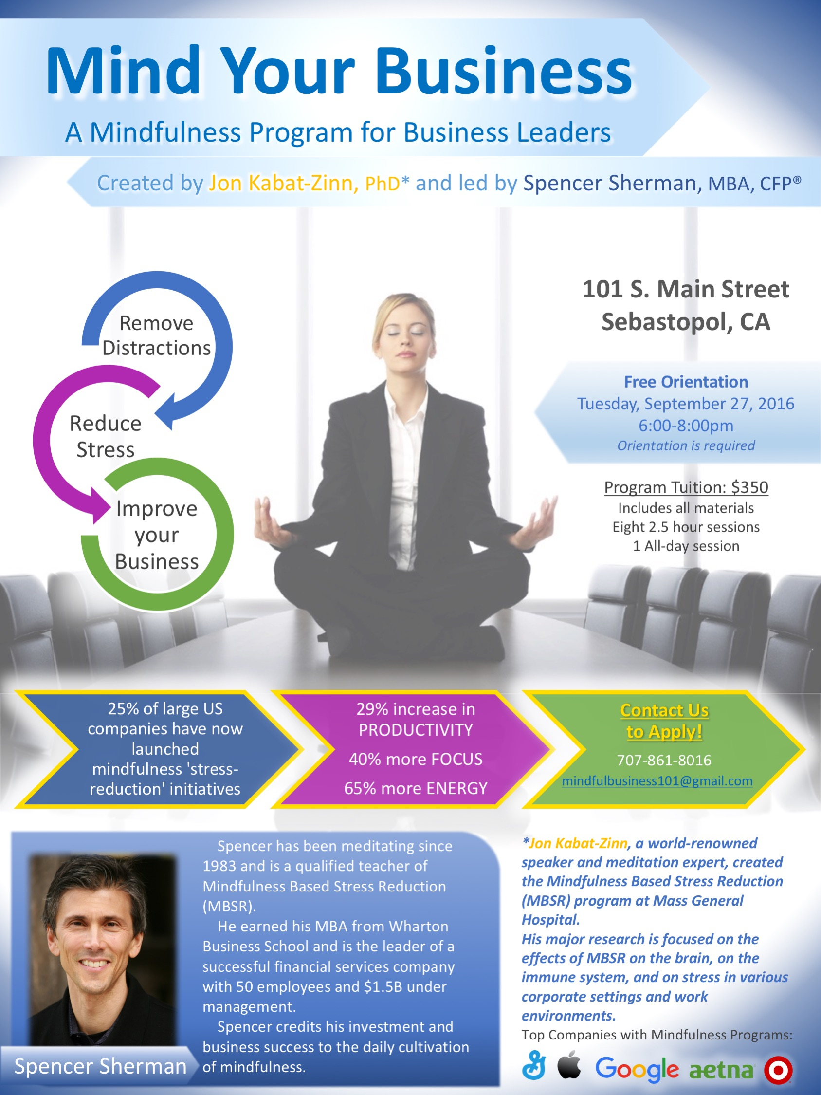 Mind Your Business: A Mindfulness Program For Business Leaders